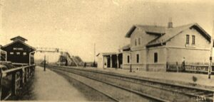 Nádraží v roce 1910